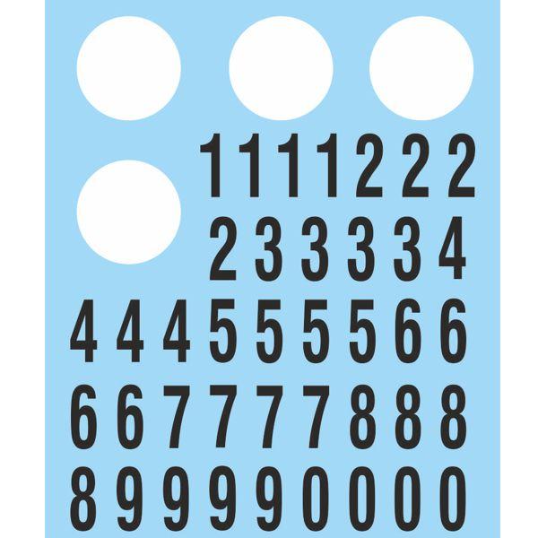 Calcas dorsales círculos y números