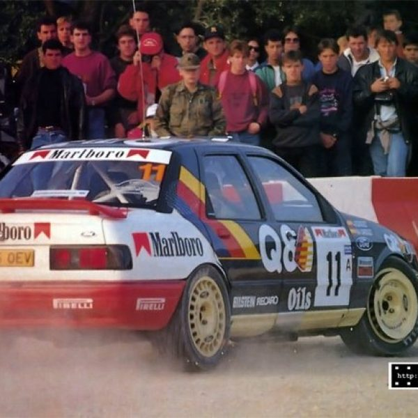 Ford Sierra Cosworth 4×4 1991 Cataluña Bardolet OF-MARLBORO trasera