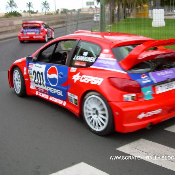 Peugeot 206 WRC 2007 El Corte Ingles KKK PEPSI 00t