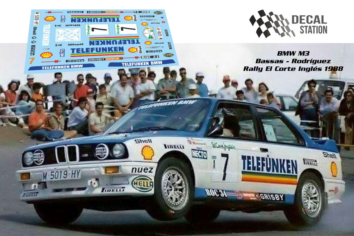 BMW M3 Bassas Rally El Corte Inglés 1988