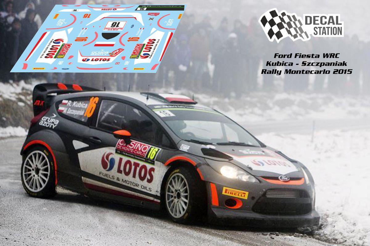 Ford Fiesta WRC Kubica Montecarlo 2015