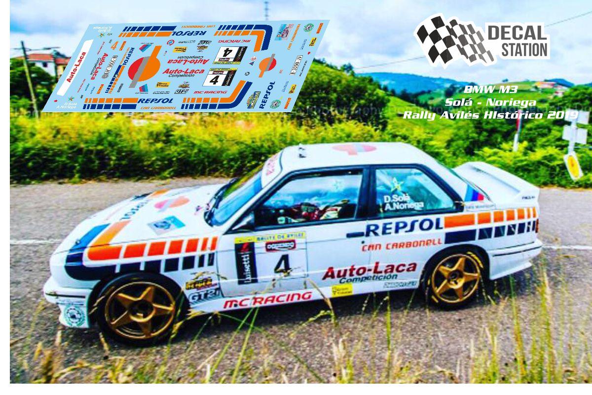 BMW M3 Solá Rally Avilés Histórico 2019