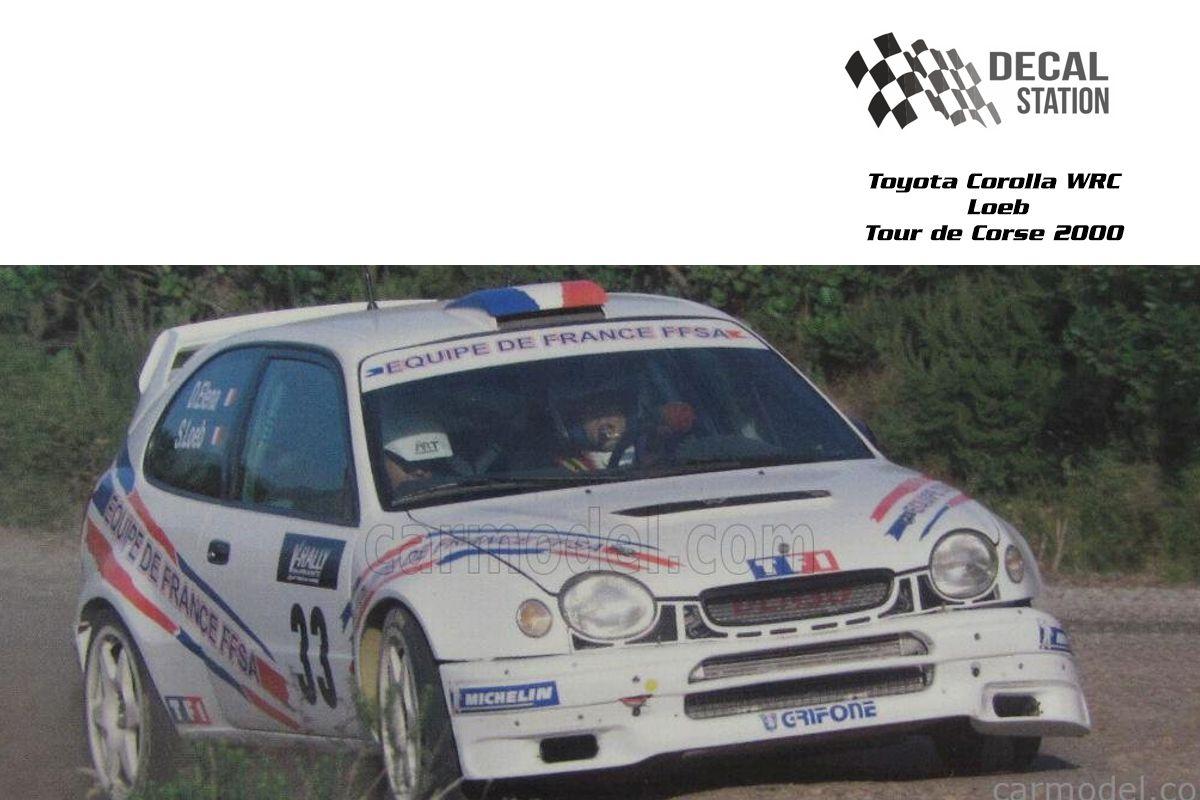 Toyota Corolla WRC Loeb Tour de Corse 2000