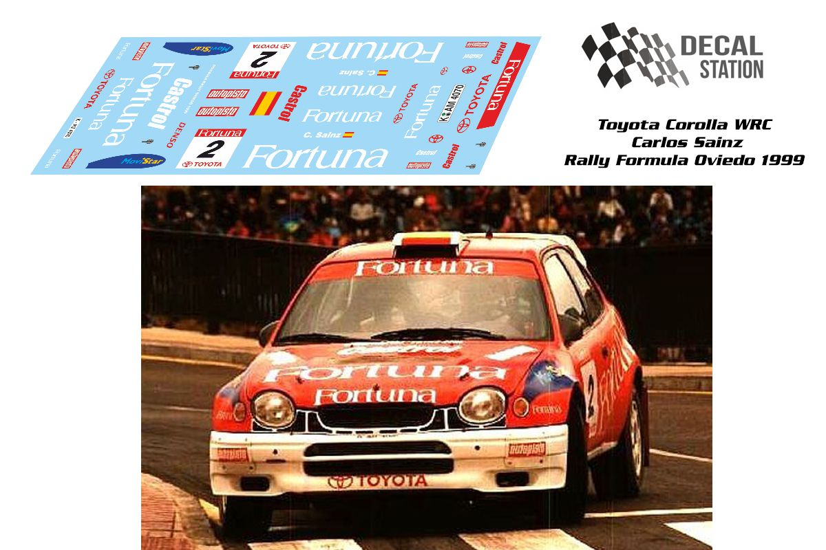 Toyota Corolla WRC Carlos Sainz Oviedo 1999