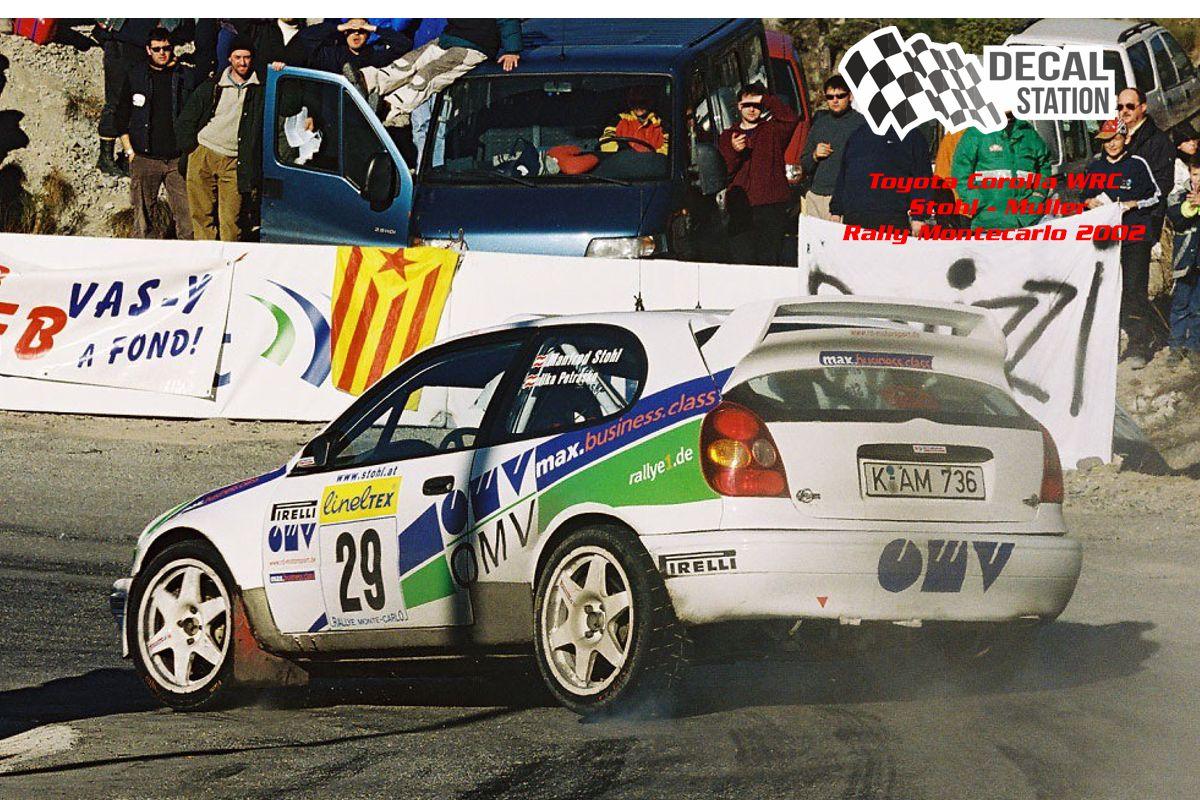 Toyota Corolla WRC Stohl Rally Montecarlo 2002