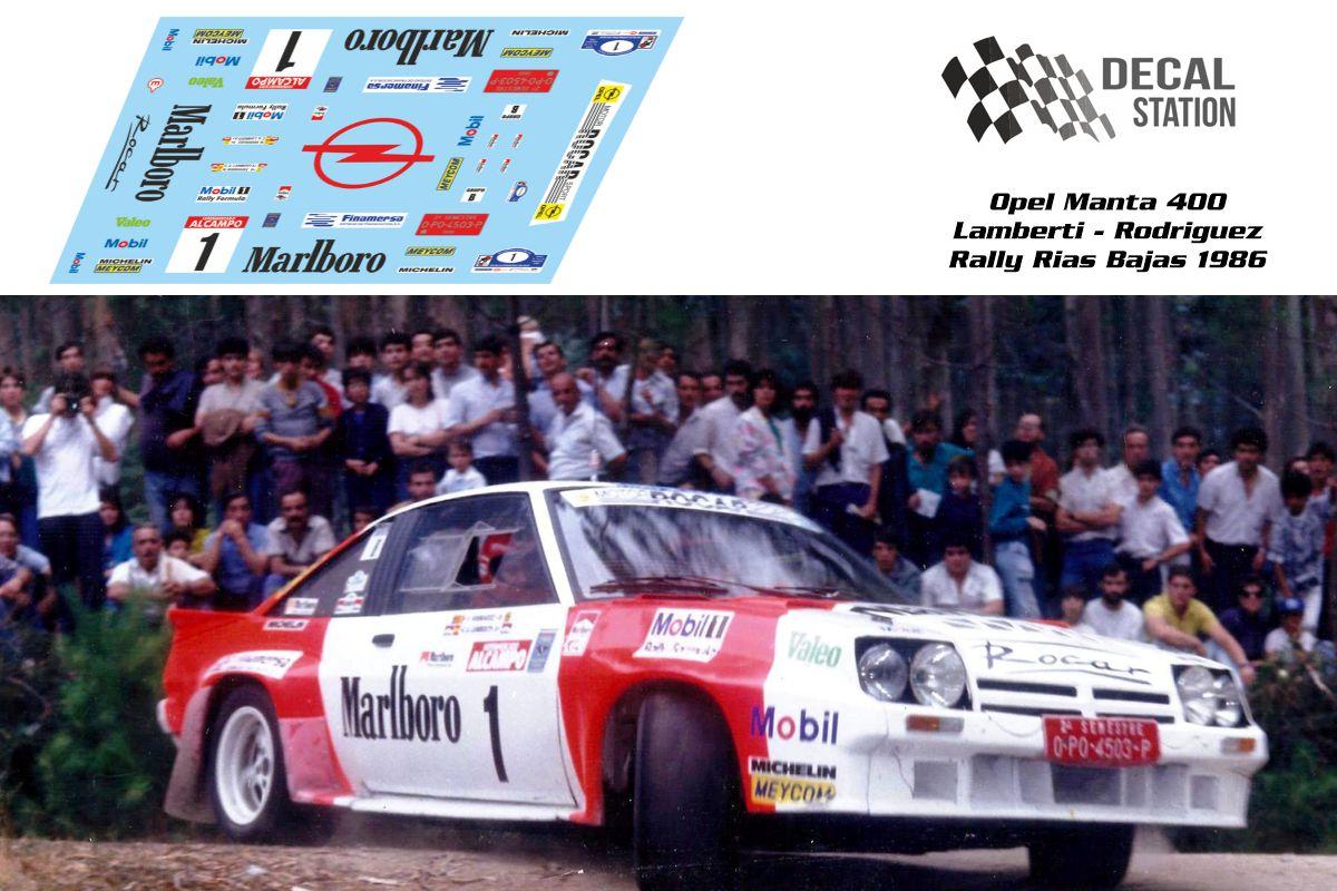 Opel Manta 400 Rias Bajas 1986