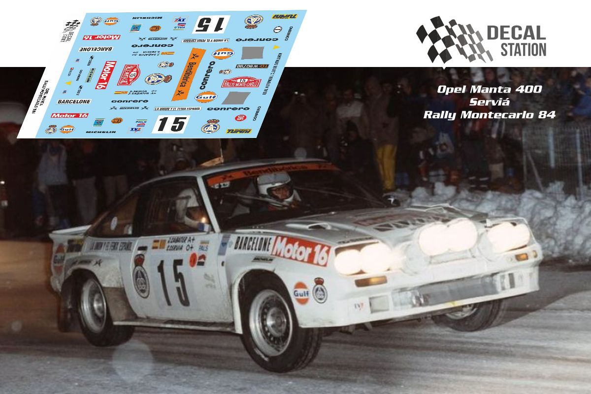 Opel Manta 400 Rally Montecarlo 1984