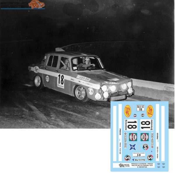 Renault 8 Reverter Rally La Coruña 1970