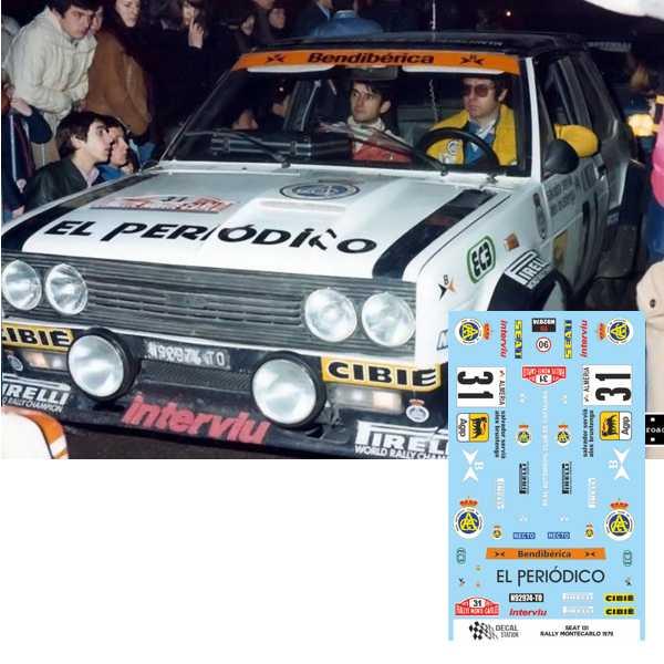 Seat 131 Rally Montecarlo 1979
