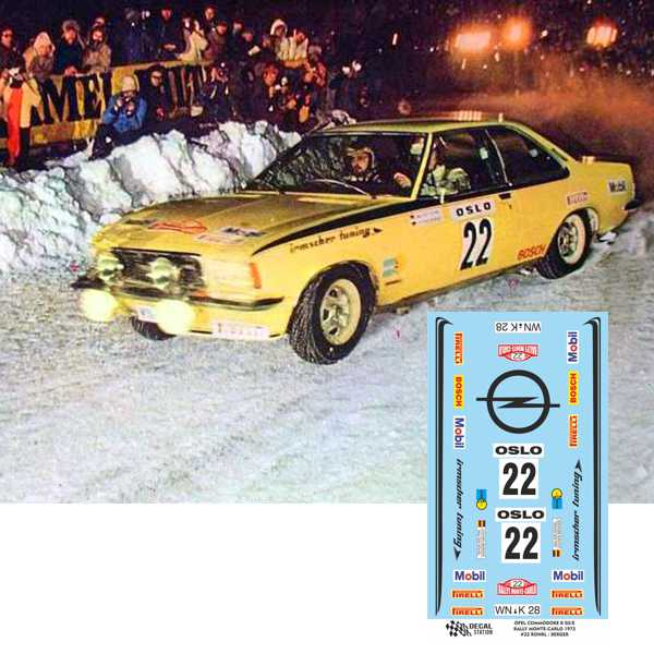 Opel Commodore Rohrl Rally Montecarlo 1973