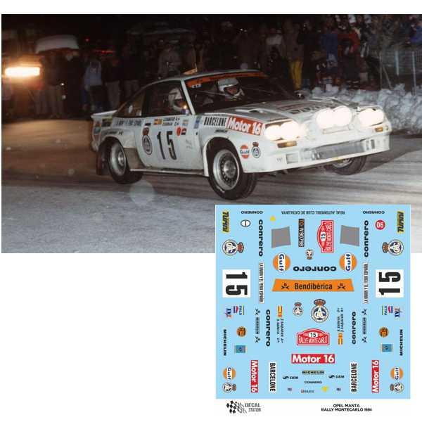 Opel Manta Rally Montecarlo 1984