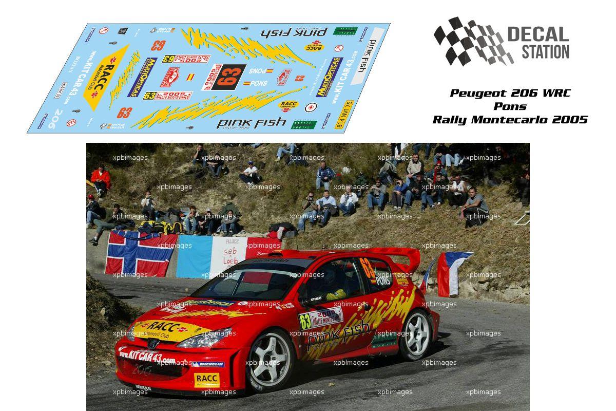 Peugeot 206 WRC Pons Rally Montecarlo 2005