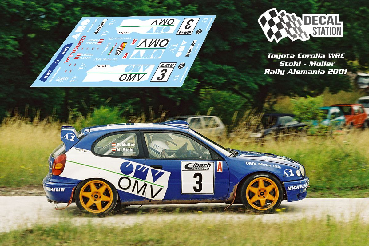 Toyota Corolla WRC Stohl Rally Alemania 2001